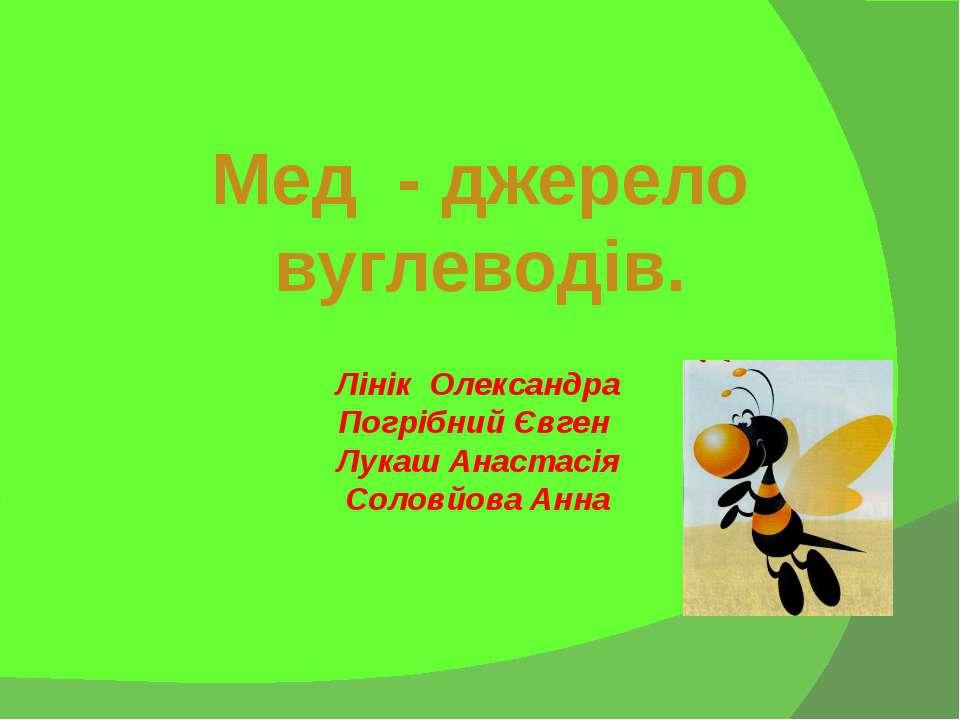 Лінік Олександра Погрібний Євген Лукаш Анастасія Соловйова Анна Мед - джерело...
