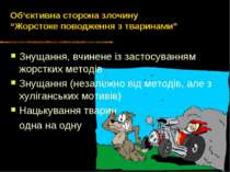 """Об'єктивна сторона злочину """"Жорстоке поводження з тваринами"""" Знущання, вчинен..."""