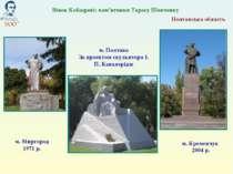 Полтавська область м. Кременчук 2004 р. м. Полтава За проектом скульптора І. ...