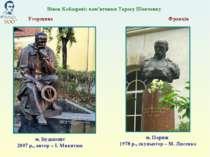 м. Будапешт 2007 р., автор – І. Микитюк Вінок Кобзареві: пам'ятники Тарасу Ше...