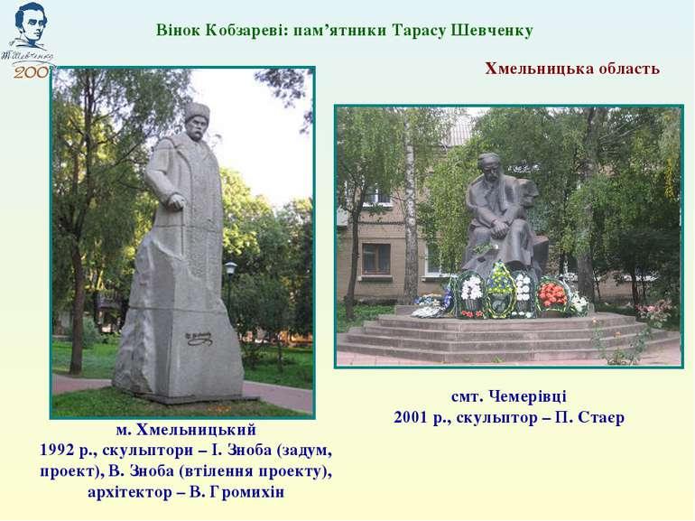 Хмельницька область м. Хмельницький 1992 р., скульптори – І. Зноба (задум, пр...