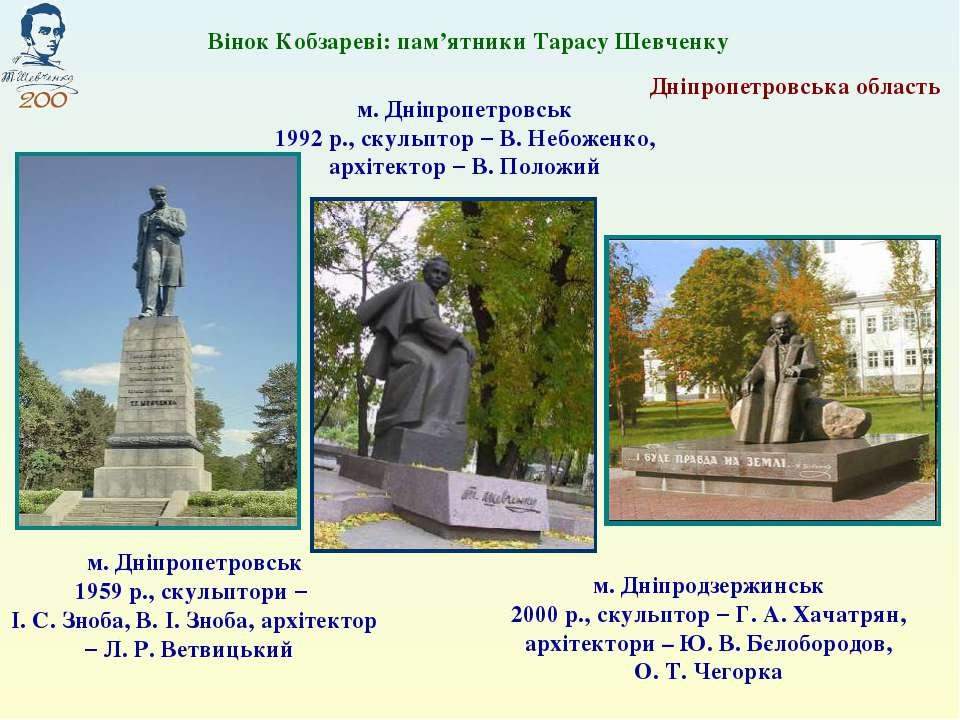 Дніпропетровська область м. Днiпродзержинськ 2000 р., скульптор – Г. А. Хачат...