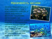 Насиченість киснем Кисень, який міститься у воді, надходить туди з атмосферно...