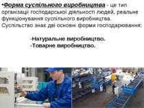 Форма суспільного виробництва - це тип організації господарської діяльності л...