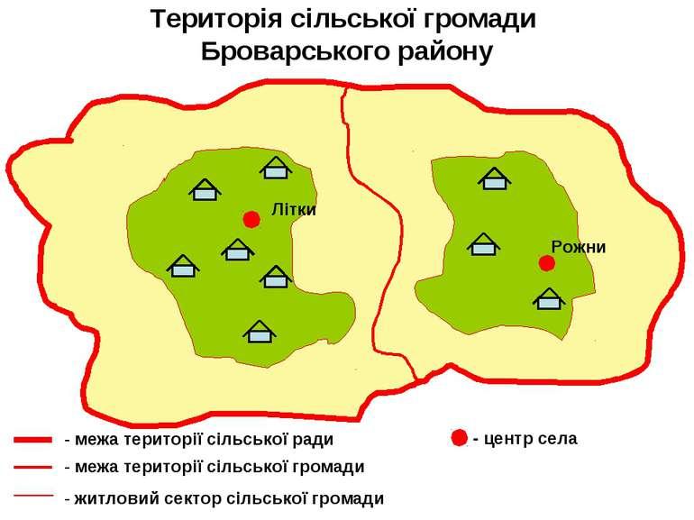 Територія сільської громади Броварського району Літки Рожни - межа території ...