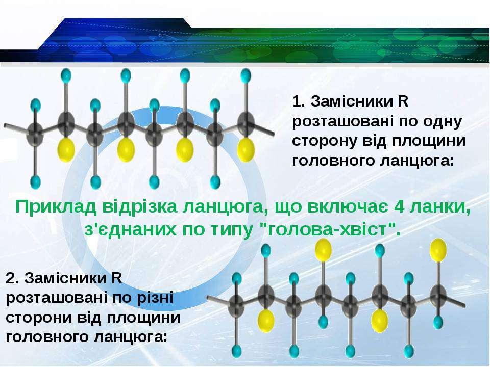 1. Замісники R розташовані по одну сторону від площини головного ланцюга: При...