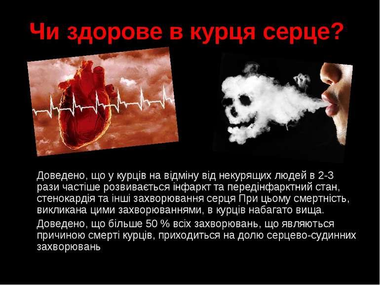 Чи здорове в курця серце? Доведено, що у курців на відміну від некурящих люде...