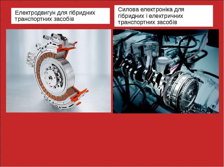 Електродвигун для гібридних транспортних засобів Силова електроніка для гібри...