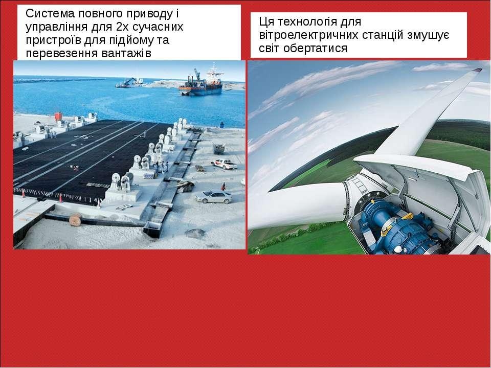 Система повного приводу і управління для 2х сучасних пристроїв для підйому та...