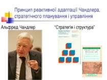 Принцип реактивної адаптації Чандлера, стратегічного планування і управління ...