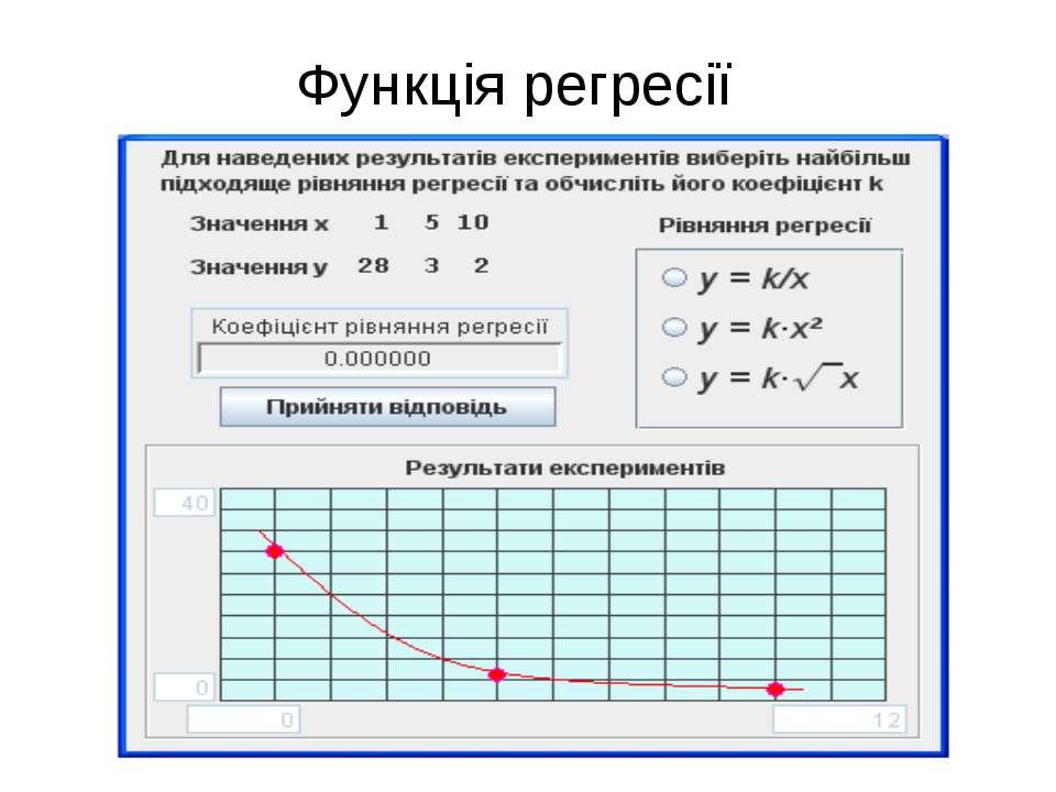Функція регресії