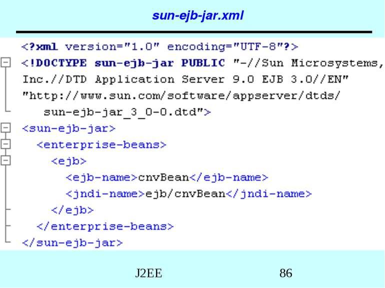 sun-ejb-jar.xml J2EE