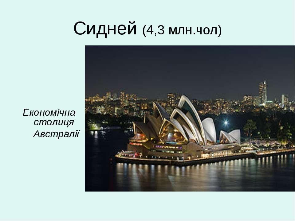 Сидней (4,3 млн.чол) Економічна столиця Австралії