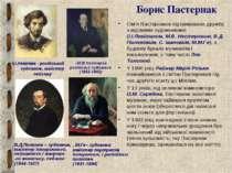 Борис Пастернак Сім'я Пастернаков підтримувала дружбу з відомими художниками ...