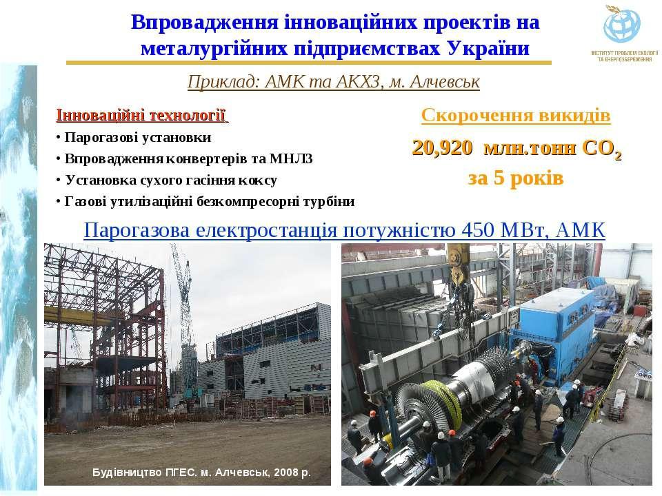 Парогазова електростанція потужністю 450 МВт, АМК Інноваційні технології Паро...