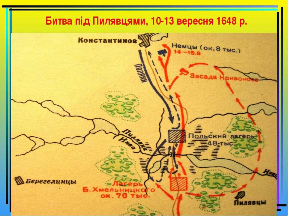 Битва під Пилявцями, 10-13 вересня 1648 р.