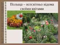 Польща – всесвітньо відома своїми квітами