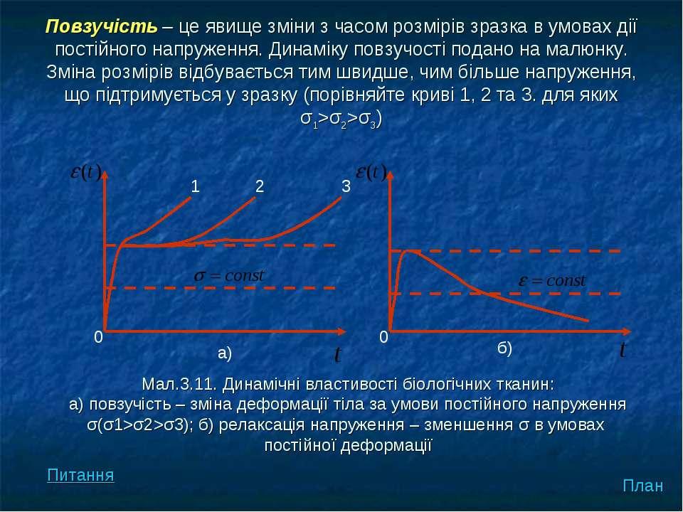 Повзучість – це явище зміни з часом розмірів зразка в умовах дії постійного н...