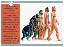 За загальною концепцією гілка людини відокремилась від стовбура мавп близько ...