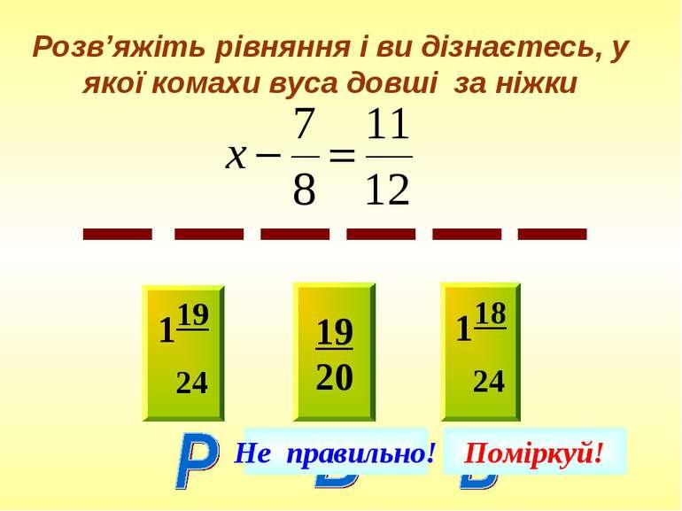 Розв'яжіть рівняння і ви дізнаєтесь, у якої комахи вуса довші за ніжки 119 24...