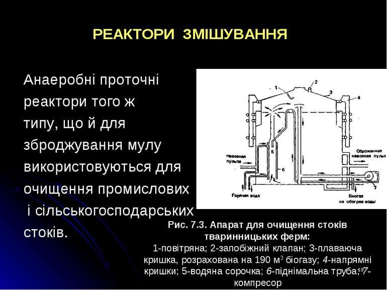 * РЕАКТОРИ ЗМІШУВАННЯ Анаеробні проточні реактори того ж типу, що й для зброд...