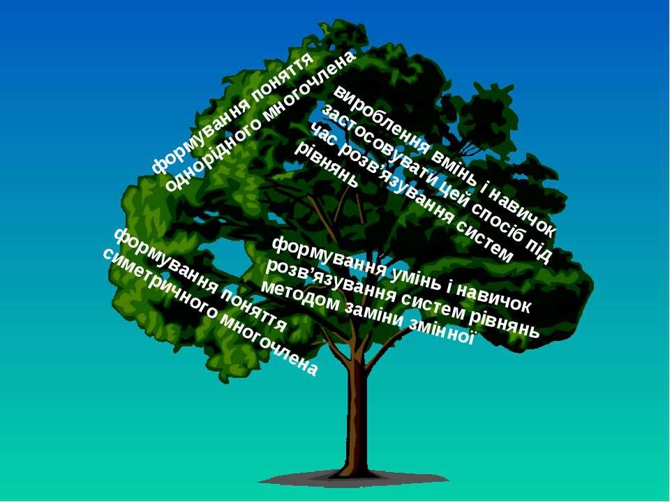 формування поняття однорідного многочлена формування поняття симетричного мно...