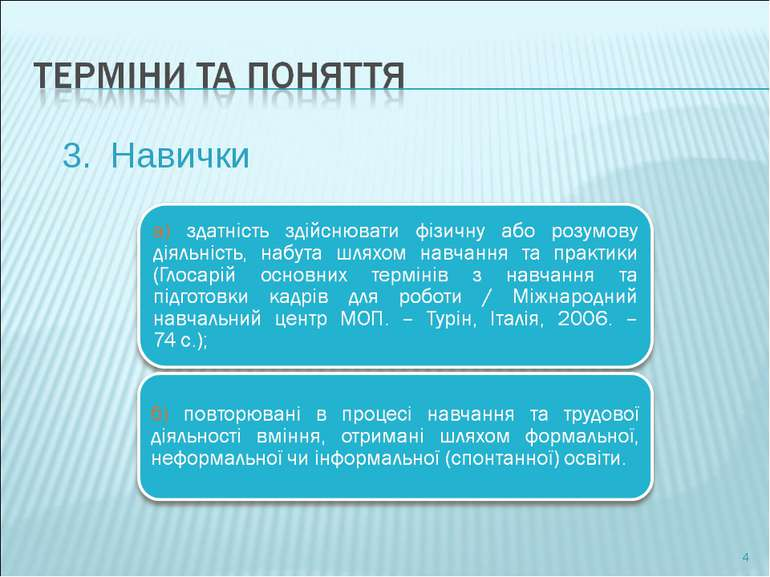 3. Навички *