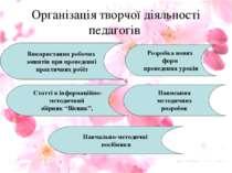 Організація творчої діяльності педагогів Використання робочих зошитів при про...