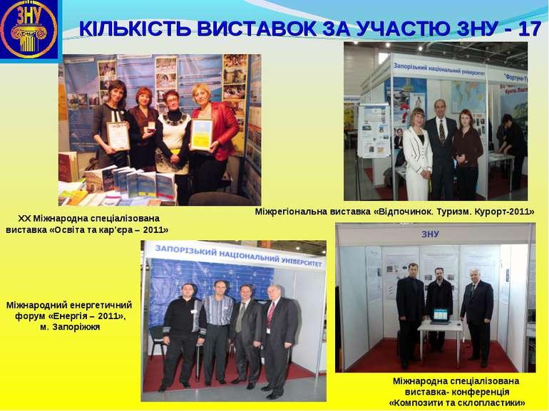Міжнародний енергетичний форум «Енергія – 2011», м. Запоріжжя Міжрегіональна ...