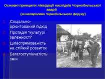 Основні принципи ліквідації наслідків Чорнобильської аварії (за матеріалами Ч...