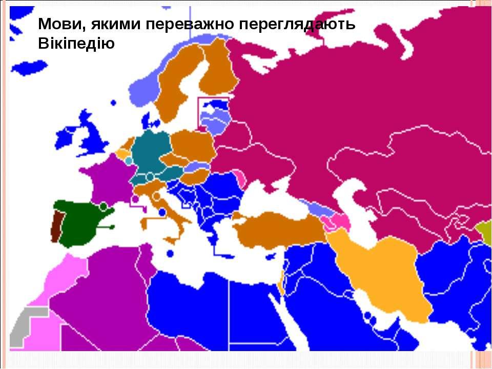 Мови, якими переважно переглядають Вікіпедію