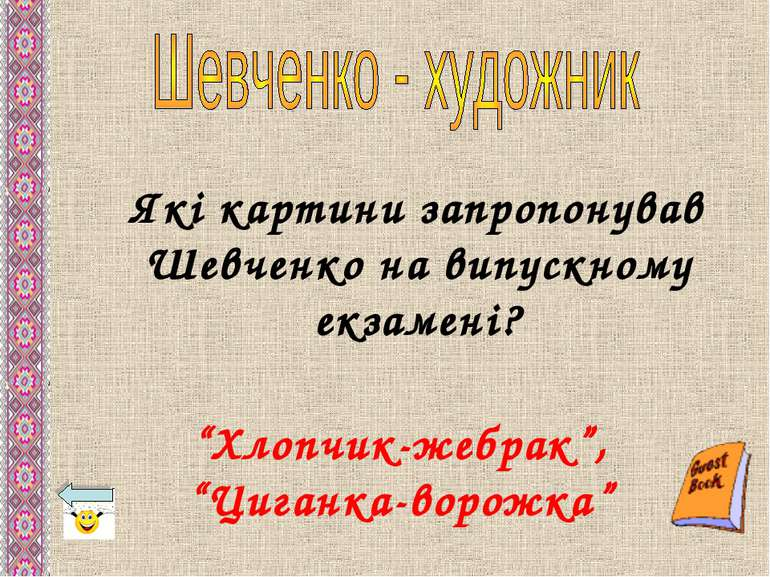 """Які картини запропонував Шевченко на випускному екзамені? """"Хлопчик-жебрак"""", """"..."""