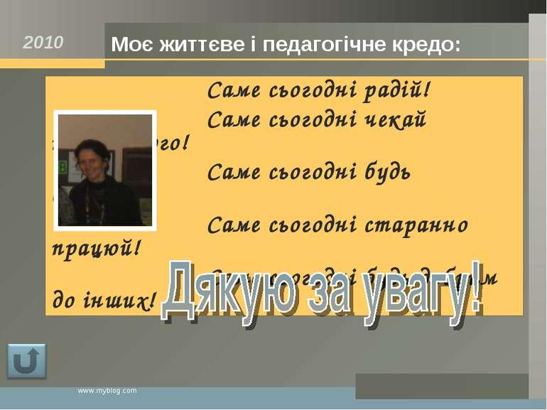 www.myblog.com Саме сьогодні радій! Саме сьогодні чекай найкращого! Саме сьог...