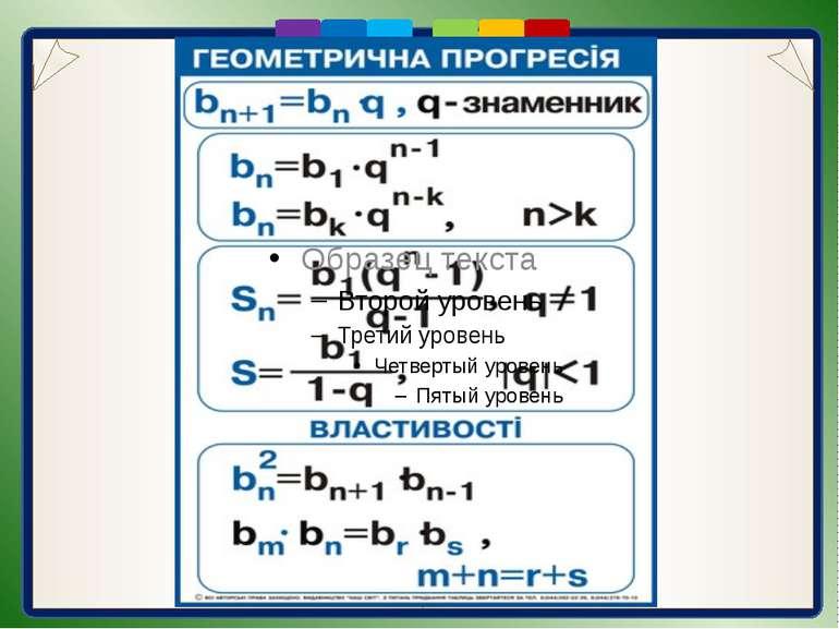 Математичний диктант 1.У геометричній прогресії перший член дорівнює 32, друг...