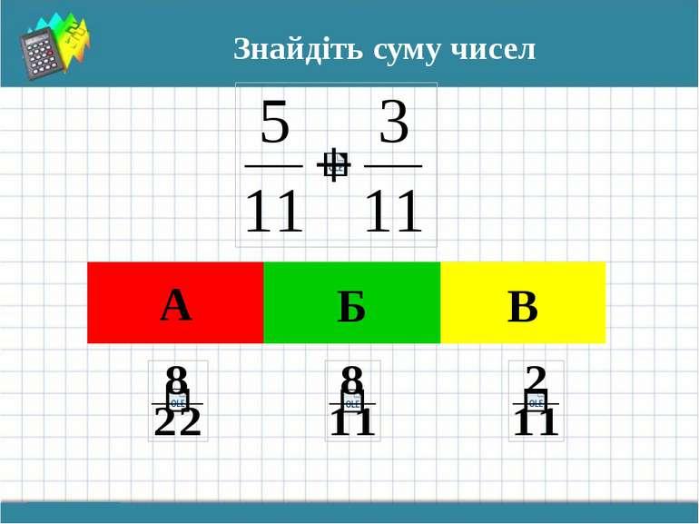 Знайдіть суму чисел А Б В