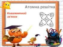Атомна решітка Ковалентний зв'язок