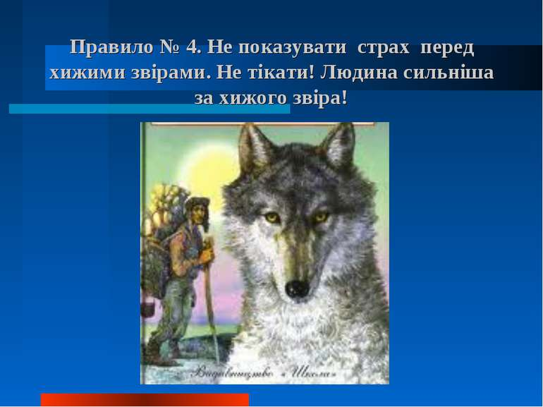 Правило № 4. Не показувати страх перед хижими звірами. Не тікати! Людина силь...