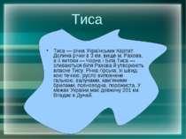 Тиса Тиса — річка Українських Карпат. Долина річки в 3 км. вище м. Рахова, а ...