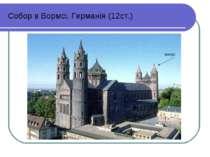 Собор в Вормсі. Германія (12ст.) конус