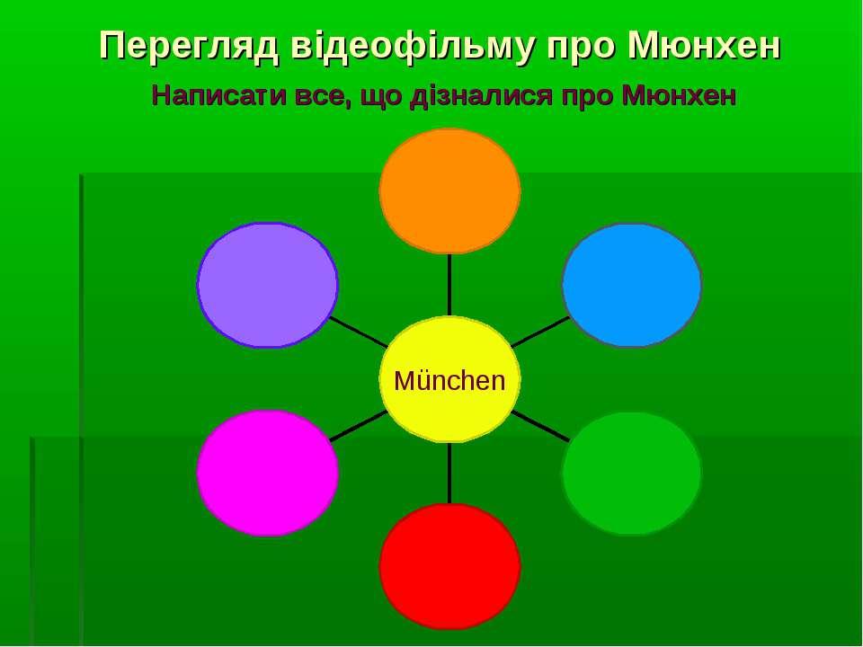 Перегляд відеофільму про Мюнхен Написати все, що дізналися про Мюнхен