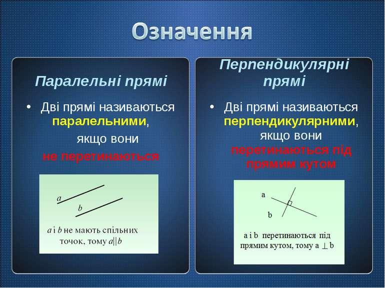 Паралельні прямі Дві прямі називаються паралельними, якщо вони не перетинають...