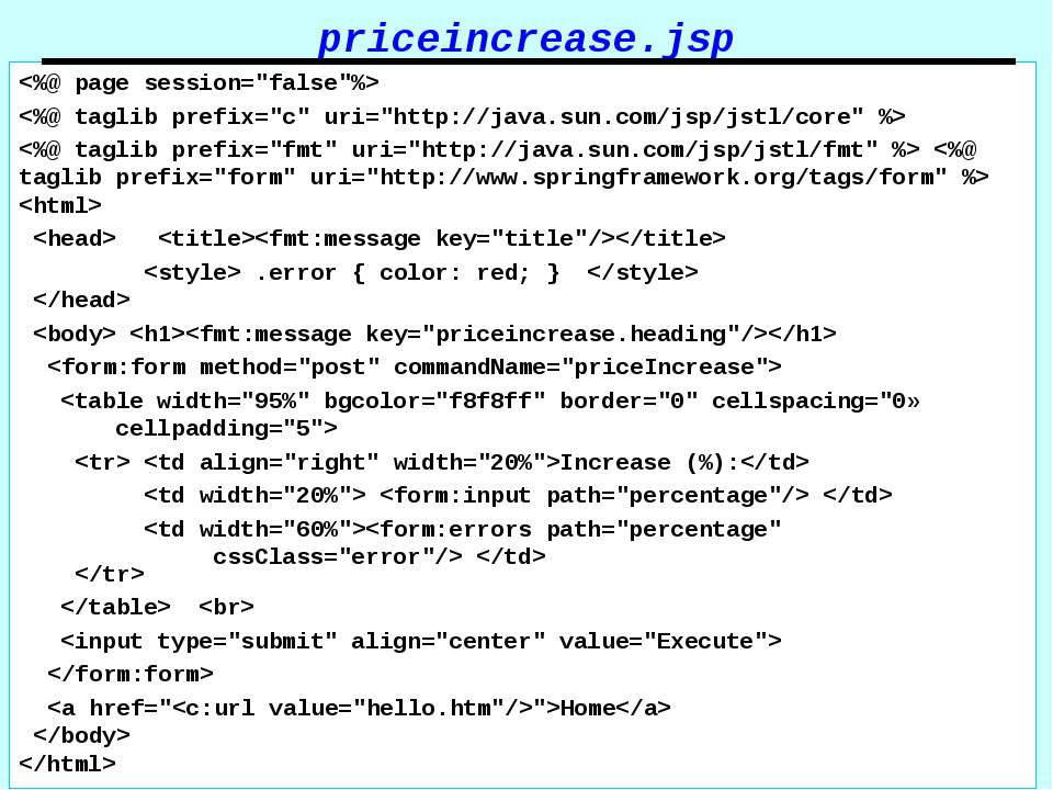 priceincrease.jsp .error { color: red; }