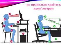 як правильно сидіти за комп'ютером