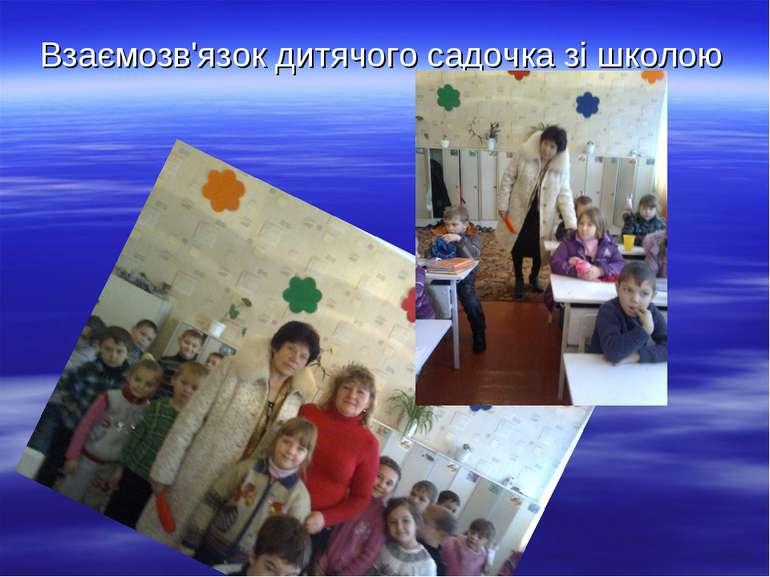 Взаємозв'язок дитячого садочка зі школою