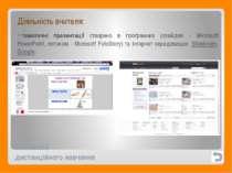 Технології дистанційного навчання Діяльність вчителя: тематичні презентації с...