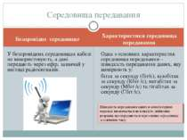 Характеристики середовища передавання У безпровідних середовищах кабелі не ви...