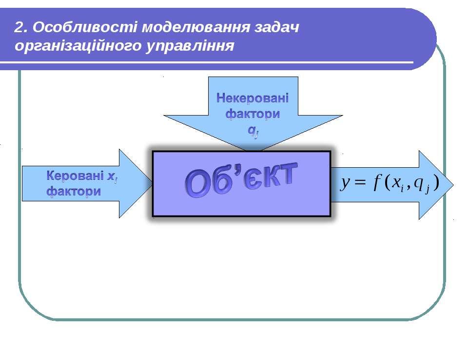 2. Особливості моделювання задач організаційного управління