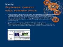 ІV етап Регулювання тривалості показу вставлених об'єктів Для відеооб'єктів т...