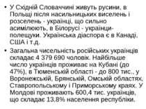 У Східній Словаччині живуть русини, в Польщі після насильницьких виселень і р...