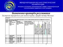 Визначення критеріїв регулювання Експертам передаються для аналізу картки у ф...